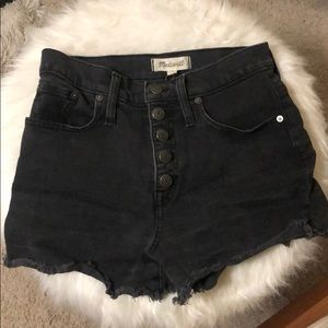 Women's Madewell black denim shorts